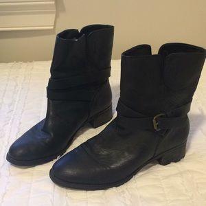 J. Crew Black Leather Moro Boots